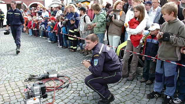 55. výročí profesionálních hasičů v Trutnově