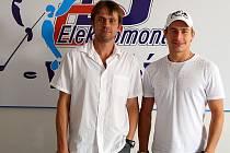 Nové posily HC Vrchlabí - Radovan Biegl (vlevo) a Milan Kostourek.
