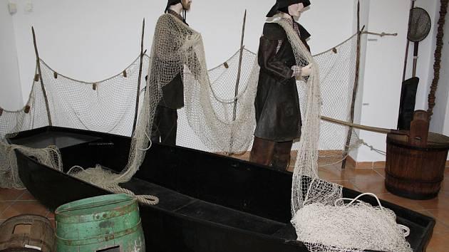 Výstava o rybářství v turnovském muzeu.