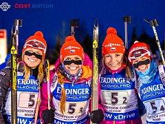 ZLATÁ DĚVČATA. Právě nedávný výkon ženské biatlonové elity okouzlil mnoho fanoušků.