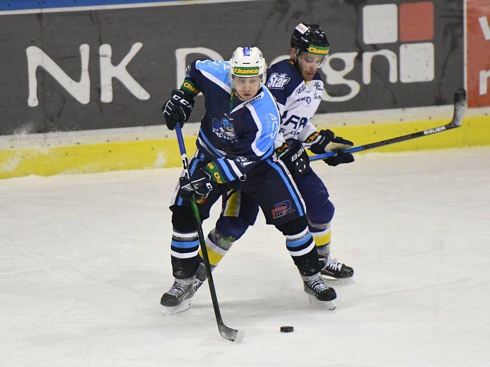 Vrchlabští hokejisté ve 32. kole Chance ligy přehráli soupeře ze Šumperka 4:2.