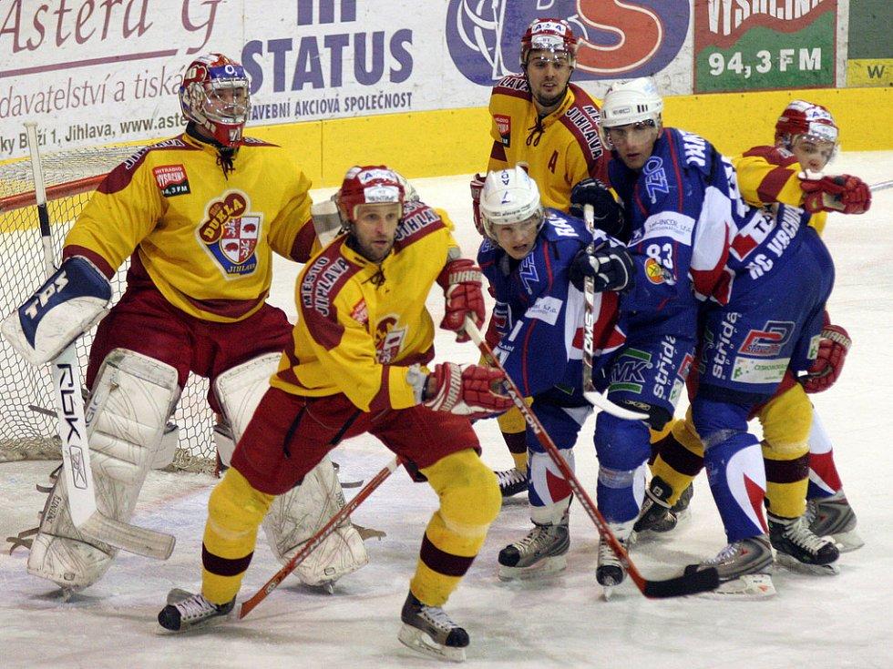 Předkolo play off, 3. zápas: HC Dukla Jihlava - HC Vrchlabí.