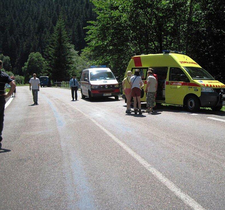 Nehoda svatebčanů na Aichelburgu