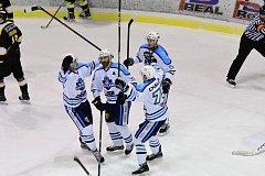 Vrchlabší hokejisté na vlastním ledě ve šlágru 24. kola II. ligy porazili Sokolov těsně 1:0.