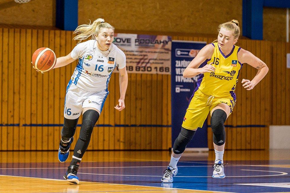 Aanna Rylichová se v utkání na Slovance blýskla sedmadvaceti body a deseti doskoky.