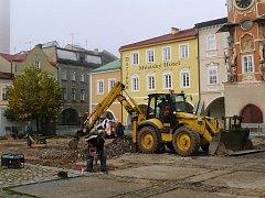 Hostinné - oprava náměstí