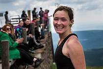 Iva Dolečková, vítězka závodu horských nosičů Sněžka Sherpa Cup.