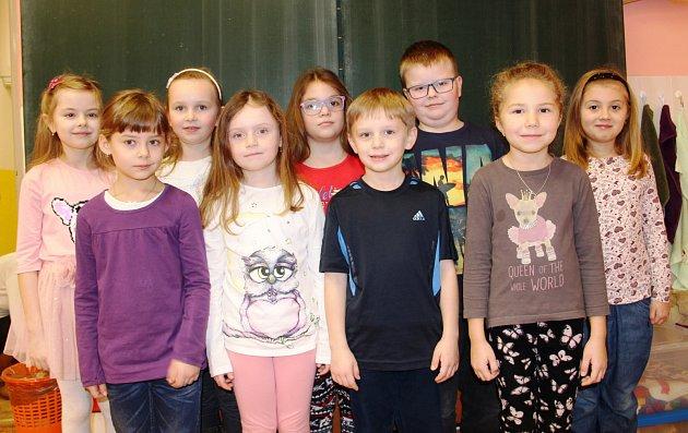 Žáci 1.třídy ZŠ Hajnice