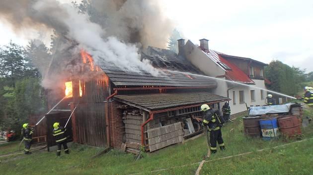 Největší škodu způsobil požár rodinného domu.