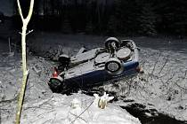 Nehoda mezi obcemi Lánov a Čistá v Podkrkonoší