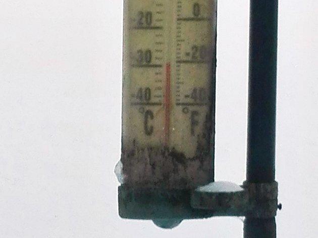 Měření teploty v Bernarticích