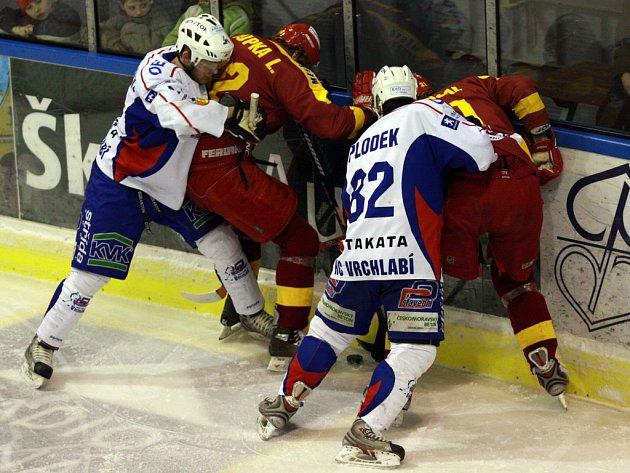Předkolo play off první ligy: Vrchlabí - Jihlava.