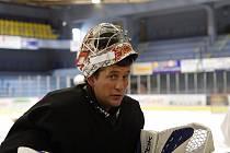 První trénink hokejistů HC Vrchlabí.