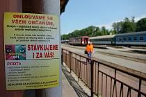 Během stávky nejely na Trutnovsku vlaky.