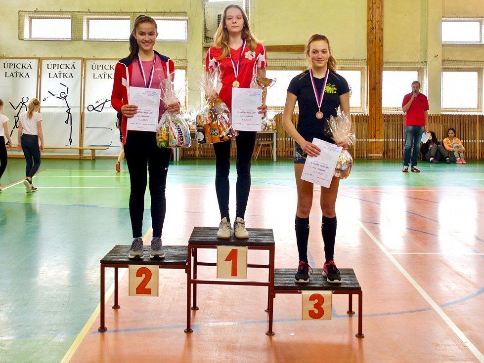Při 28. ročníku Úpické laťky starší žákyně Lucie Sacherová atakovala sedm let starý rekord úřadující halové mistryně republiky.