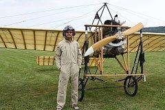 Jan Rudzinskyj pilotoval historický Blériot XI, s nímž létal první český aviatik Jan Kašpar.