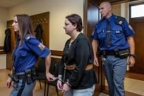 Eskorta přivádí 16. října 2018 ke Krajskému soudu v Hradci Králové vražedkyni Petru Janákovou. S manželem se chystala usmrtit i další muže. Těm se však se štěstím podařilo vražedným plánům uniknout.