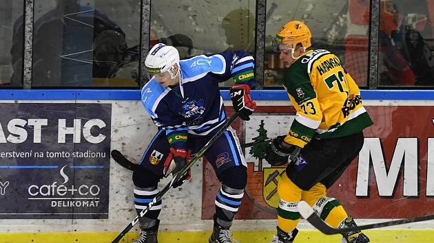 Vrchlabští hokejisté ve druhém duelu čtvrtfinále play off padli se Vsetínem po výsledku 0:2.