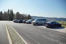 Ze slavnostního otevření nového parkoviště na Babí u trutnovské pevnosti Stachelberg.