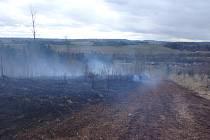 V Prosečném hořel lesní porost.