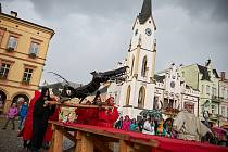 Sundávání draka v Trutnově, září 2019