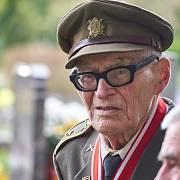 Plukovník ve výslužbě Jan Plovajko, bojovník na východní frontě, účastník bitev o Kyjev a na Dukle a nositel Řádu Bílého lva.