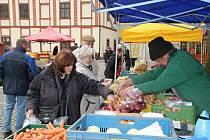 Farmářské trhy na vrchlabském náměstí T.G.Masaryka.