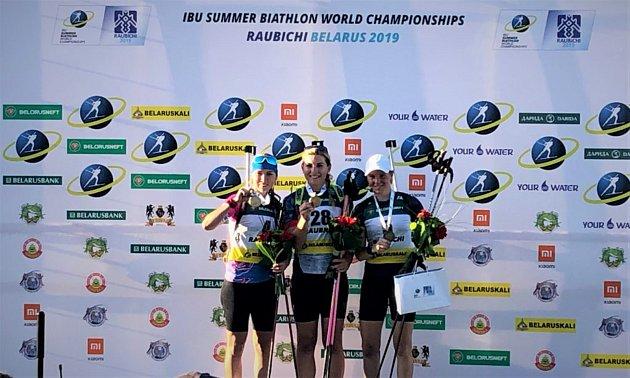 Vrchlabská biatlonistka slaví jeden znejvětších úspěchů kariéry.