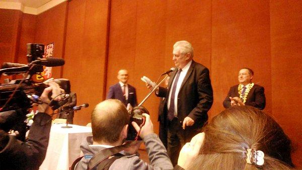Prezident Miloš Zeman vTrutnově.