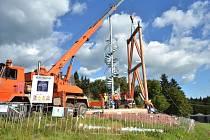 Výstavba rozhledny Stachelberg.