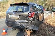 Dopravní nehoda mezi obcemi Výšinka a Kocbeře