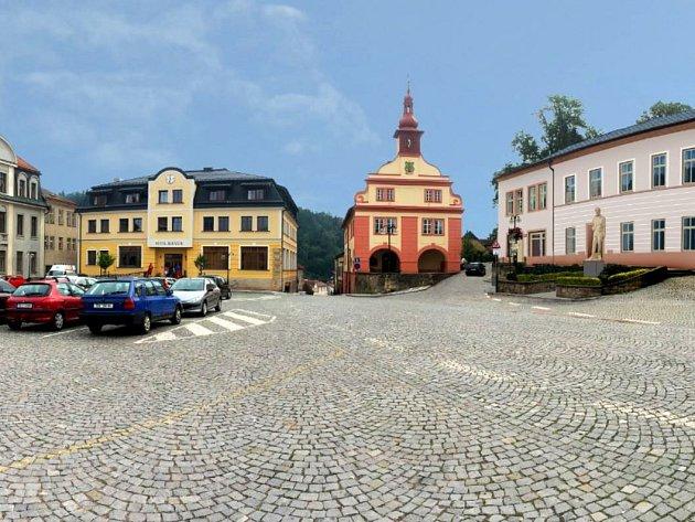 MASARYKOVA SOCHA bude umístěná před Dům kultury, který město v současnosti dokončuje.