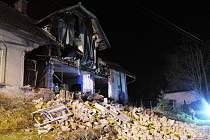 Ve Stružinci se zřítila stěna obytného domu