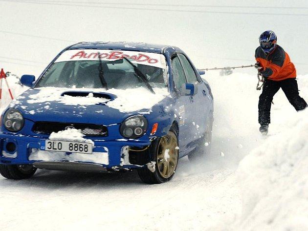 Krkonošský pohár v autoskijöringu – Bozkov 2010.