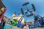 OBRAZEM: Tradiční Svatojakubská pouť na úpickém náměstí.