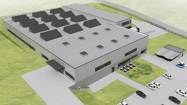 Nová továrna vprůmyslové zóně Krkonošská. Firma Pepperl+Fuchs vní chce zahájit výrobu od roku 2020.