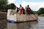 Úpění na řece Úpě v Havlovicích na Trutnovsku.