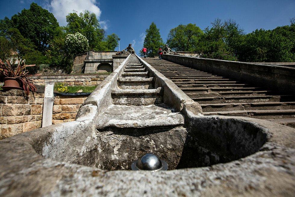 Kaskádové schodiště v Kuksu.