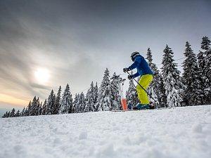 První lyžovačka v Krkonoších