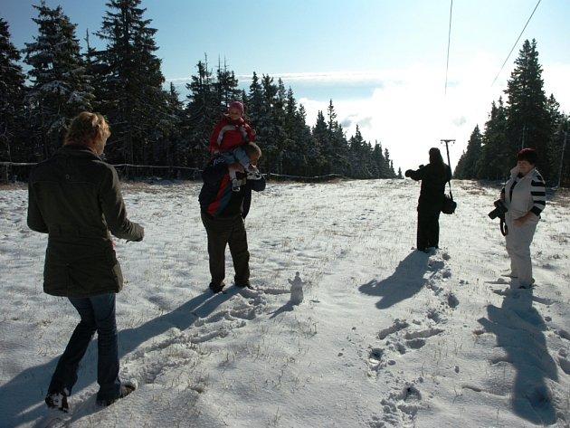 První sníh na Černé hoře.