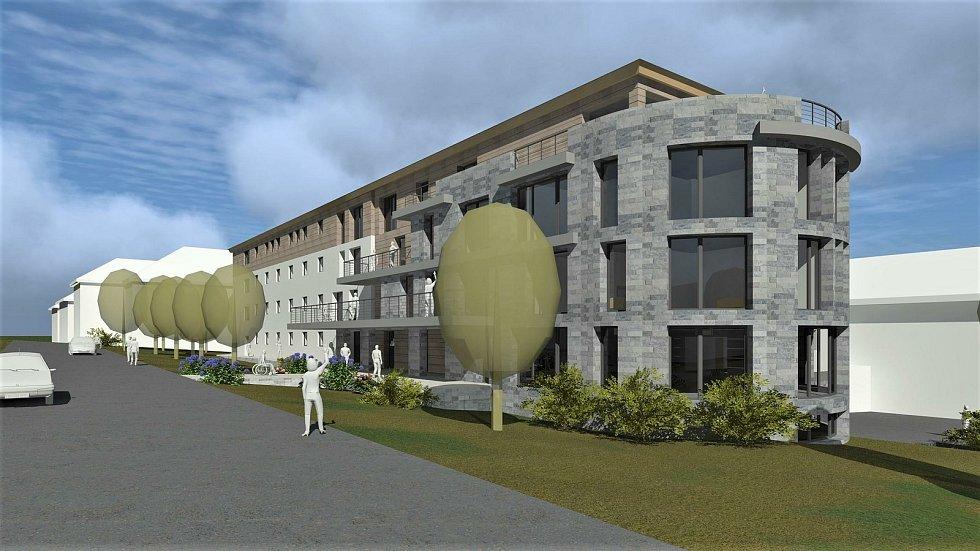 Královéhradecký kraj začne stavět v Žacléři domov důchodců za 125 milionů korun blízko náměstí v místě bývalého hornického učiliště.