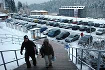 První sníh na Černé hoře v Krkonoších