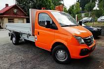 Jilemnice má nový nákladní elektromobil.