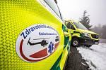 Hodně zraněných. Záchranáři cvičili zásah při nehodě autobusu plného turistů vysoko v horách.