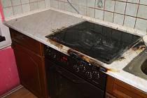 Požár kuchyně v Huntířově