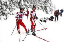 VYNIKAJÍCÍ PODMÍNKY připravilo šampionátu v Horní Malé Úpě počasí. Závodníci si na čerstvém sněhu libovali.