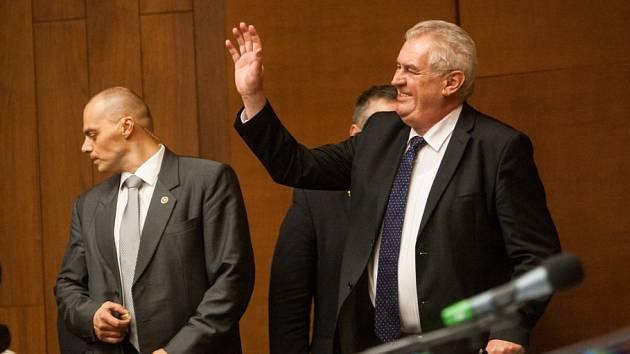 Z návštěvy prezidenta Miloše Zemana v Trutnově.