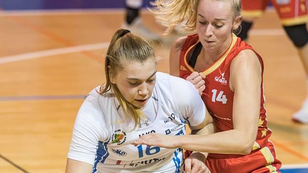 Anna Rylichová se v utkání s pražskou Slavií prosadila jedenácti body a šesti doskoky.