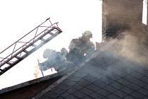 Požár rodinného domu v Mostku.