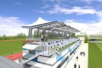 STADION VE VRCHLABÍ má mít i tribunu, oválnou atletickou šestidráhu, vznikne zde pěší stezka, přemostění silnice a parkoviště.